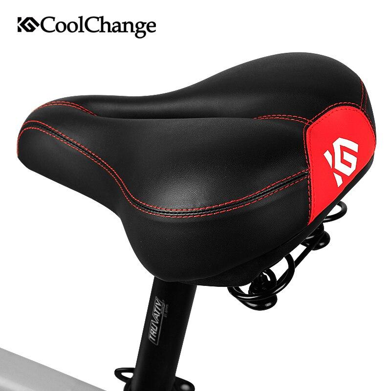 CoolChange Cycling Saddle Soft Sponge MTB Seat Shock Proof Bike Saddle Hollow Breathable Comfortable Rain Proof Bicycle Seat