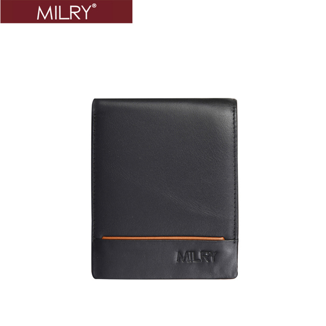 Brand MILRY 100% Genuine Leather Wallet for men Purse billfold ID real cow leather men's wallet credit card holder   c0222