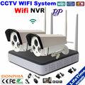 2 PCSxHD 720 P IP Главная Видеонаблюдения Беспроводные Камеры Ночного Видения беспроводной комплект с 4ch WI-FI NVR Удаленного просмотра с помощью смартфона
