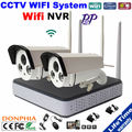 2 PCSxHD 720 P IP Câmera de Segurança de Vigilância Em Casa kit de Visão Noturna Sem Fio wi-fi com visão 4ch NVR WI-FI Remoto via smartphone