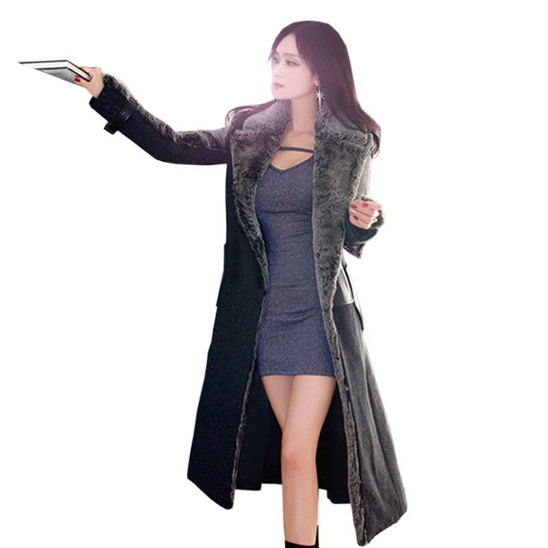 Зимние черные сапоги шерсть Для женщин куртка осень зима модные длинные высокое качество меха шить женские Офисные женские туфли верхняя о