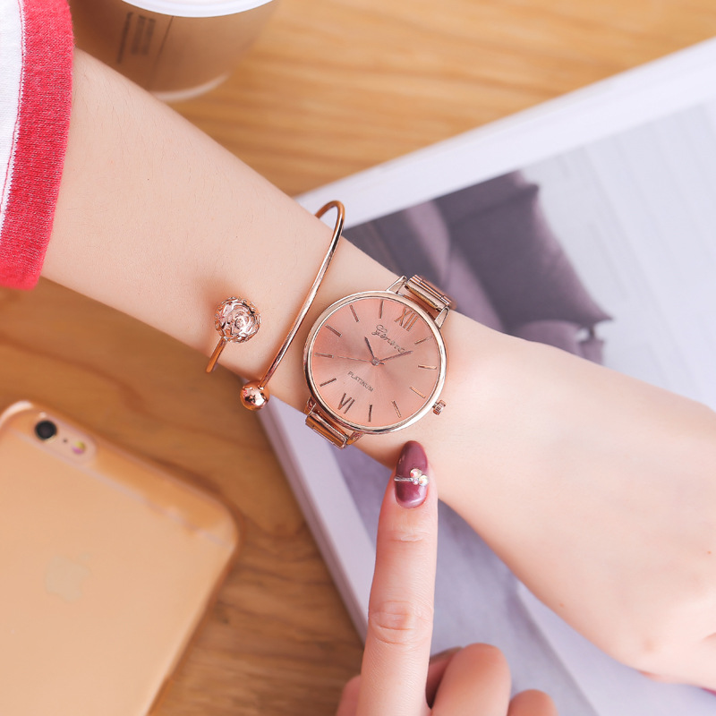 Luxury Fashion Rose Gold Casual Quartz Watch Top Brand Women Stainless Steel Dress Watch reloj mujer gift Relogios Femininos