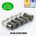 LED Bulb Real No Flicker Smart Power IC Design High Lumen long Life LED Corn Bulb 4014 SMD E27 220V replace halogen lamp