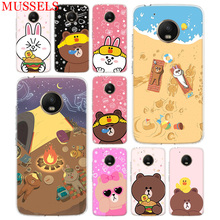 Couples Brown Cony TPU Phone Case For Motorola Moto G7 G6 G5S G5 E4 Plus G4 E5 Play Gift Patterned Customized Coque Cover Shell