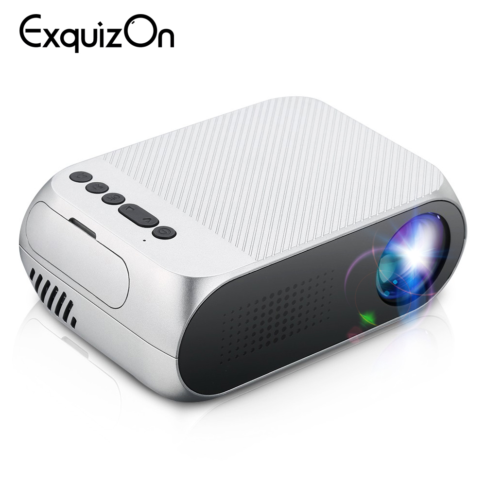Exquizon Portable Projector YG320 Mini LED Home LCD PK 320x240 HDMI USB Media-Player