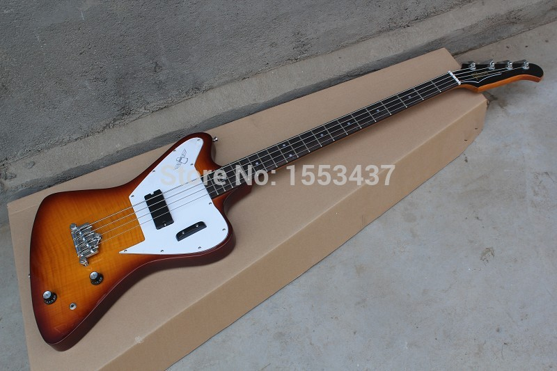 Free Shipping Newest thunderbird pro electric bass guitar one piece set No Scarf bass in ...