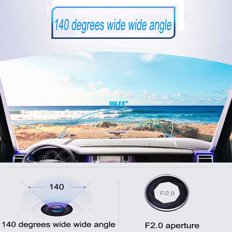 ポータブル自動 Dvr 5 インチバックミラー車の運転レコーダー 1080 ナイトビジョンデュアルレンズ Dashcam ビデオカメラダッシュカム