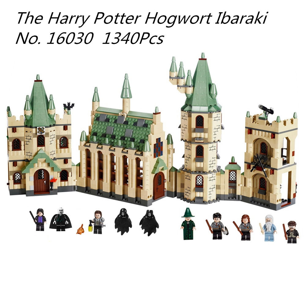 Lepin 16030 Movie Series Harry Potter Hogwarts Castle Building Blocks Bricks Kits Compatible legoinglys 4842 Toys Children Gifts lepin 16030 1340pcs movie series hogwarts city model building blocks bricks toys for children pirate caribbean gift