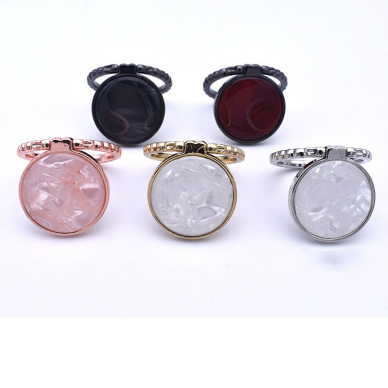 For All Smartphones And Ring Cases Fashion Shell Pattern 360 Degree Round Metal Ring Bracket Holder Fold 180 Degrees Suitable in Phone Holders Stands from Cellphones Telecommunications