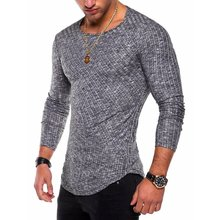 Autumn Hip Hop 6 Colors Men Long Sleeve T Shirt Man s Casual O Neck Striped