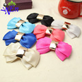 5 colors 1 pair charm crystal bow shoe clip fabric flower accessories B375