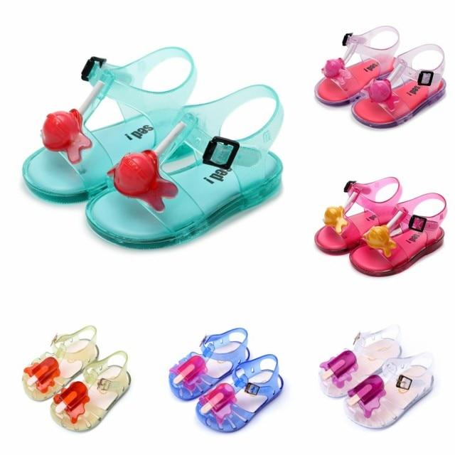 Children's Mini Sandal 2019 New Girl Jelly Sandals Boys Kids Pvc Sandals Children Beach Shoes Non-slip Toddler Shoes Size19-31