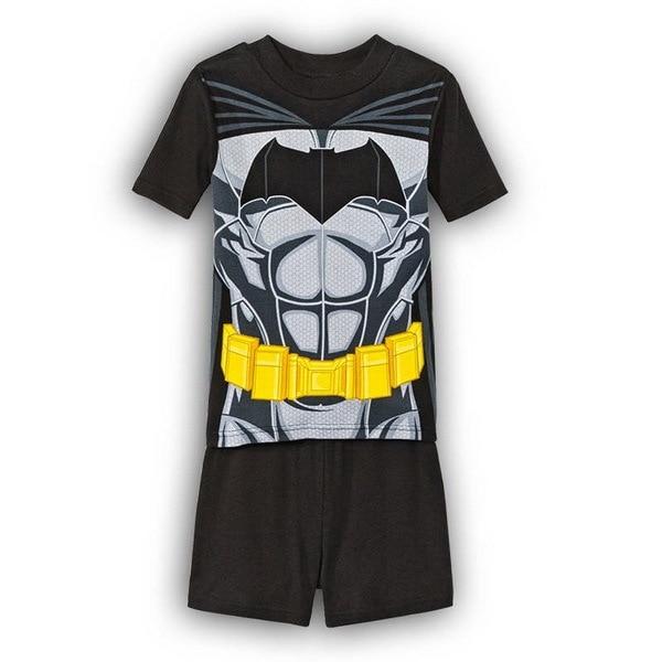 6a38fb0a16cd NEW Children Summer Cotton Short Sleeve Black Iron Man spider man ...