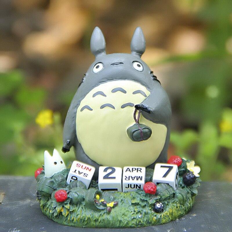 Studio Ghibli Miyazaki Hayao Anime My Neighbor Totoro Calendar PVC Action Figure Collection Model Toy for Garden Ornaments 7cm 1pcs diy studio ghibli hayao miyazaki anime my neighbor totoro zodiac pvc action figure toys collection model toy gifts for kids