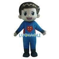 Головка пены Талисман костюмы/первой помощи и прохладный детская одежда мини Супермен Талисман костюм