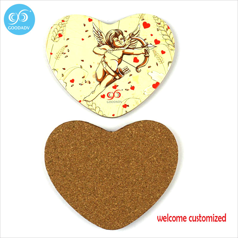 15pcs/Lot <font><b>Cartoon</b></font> heart shape Wood <font><b>Coasters</b></font> Home Table <font><b>Cup</b></font> Mat <font><b>Drink</b></font> <font><b>Coasters</b></font> <font><b>Customized</b></font> <font><b>Coaster</b></font>