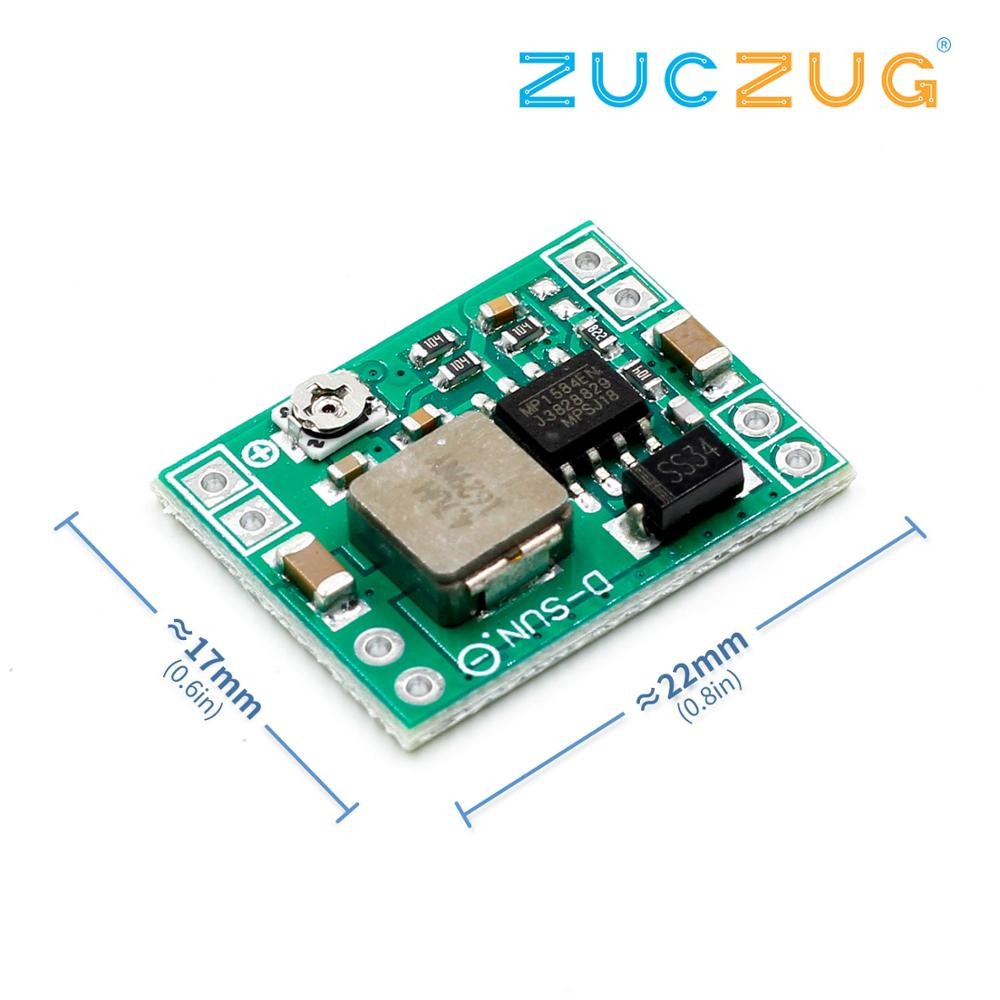 1PCS Great IT Power Module Adjustable MP1584EN DC DC 3A Power Step-down Descending Output Module 12 V9v5v3 LM2596 24V