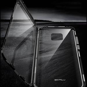 Image 4 - Роскошный защитный чехол из закаленного стекла для телефона, Магнитный чехол для Huawei P20 PRO, Huawei P30 PRO Mate 20 pro, honor View 20, ударопрочный чехол для дома