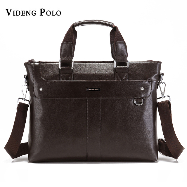 VIDENG POLO Business Briefcase Casual Crossbody Shoulder Bag Leather  Messenger Bags Computer Laptop Handbag Men s Travel Bags ef2174b194b59