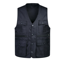 Casual Men Vest Brand Cotton Pockets Cargo Coats & Jackets Sleeveless Male Vests Military Men's Clothing