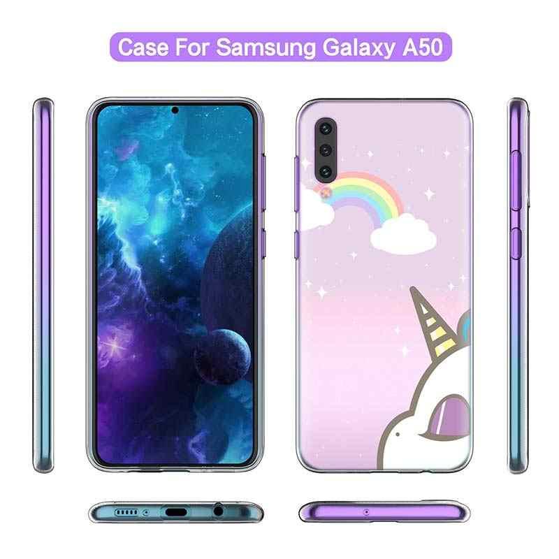 Il mio Unicorn Ragazza per il Caso di Samsung A50 A70 A60 A40 A30 A20 A20e A10 M30 M20 M10 A7 A9 2018 copertura Del Telefono del Silicone di TPU di Lusso Coque