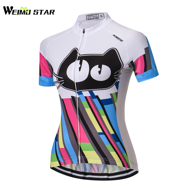 Weimostar Colorful Cats Cycling Jersey Women bike clothing bicycle top Ropa  Ciclismo maillot MTB jersey Sports T- shirts Racing eaae5e3d6