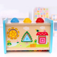 Multi Function Intelligence Box Match Cognition Building Block Early Educational Toys Children Gift Kids Wooden Montessori Toys
