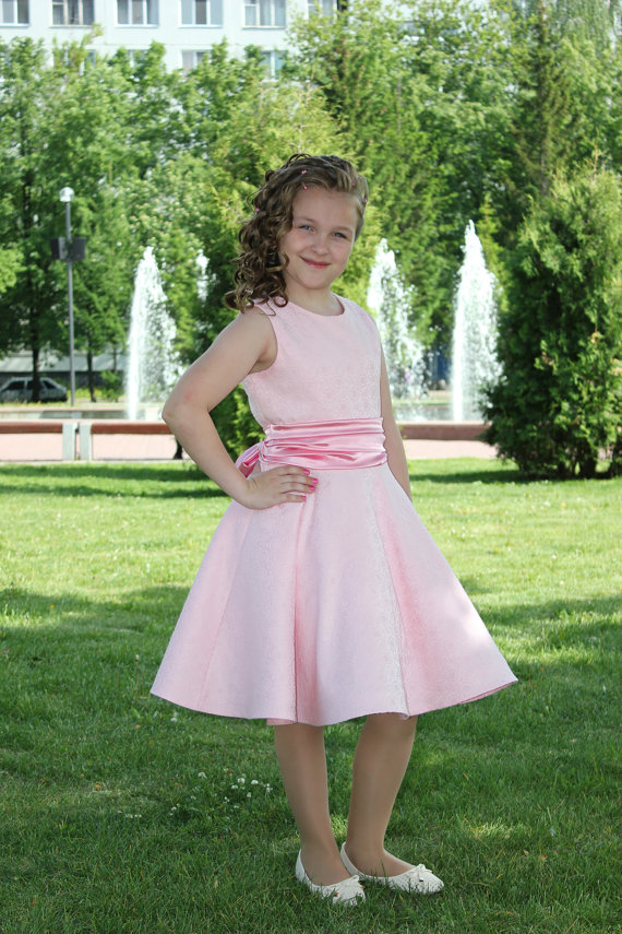 2017 New Flower Girls Dresses For Wedding Gown Stain Kids Beauty Pageant Dresses Knee-Length Pink Mother Mother Daughter Dresses недорго, оригинальная цена