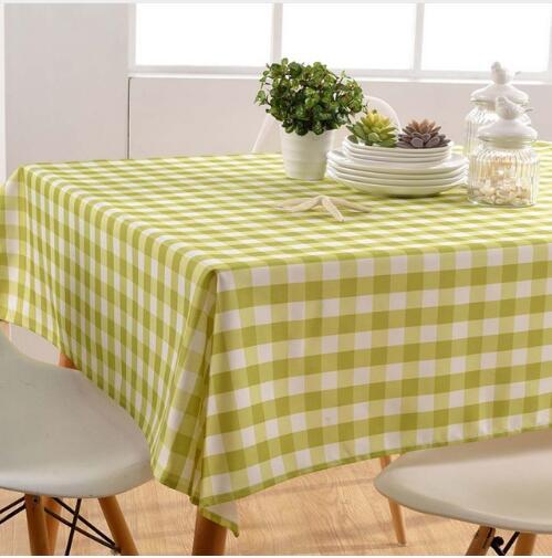 Gitter Tischabdeckung Tuch Plaid Tischdecke Garn Tischdecken Hause Esszimmer   Y35