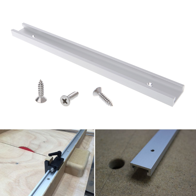 OOTDTY Aluminium Alloy T-track Woodworking T-slot Miter Track Jig Fixture Router Table ...