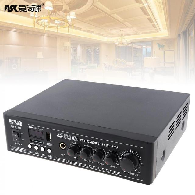 UFL 60 50 واط بلوتوث مكبر للصوت الضغط المستمر مع وظيفة تشغيل USB للحصول على نظام موسيقي الخلفية