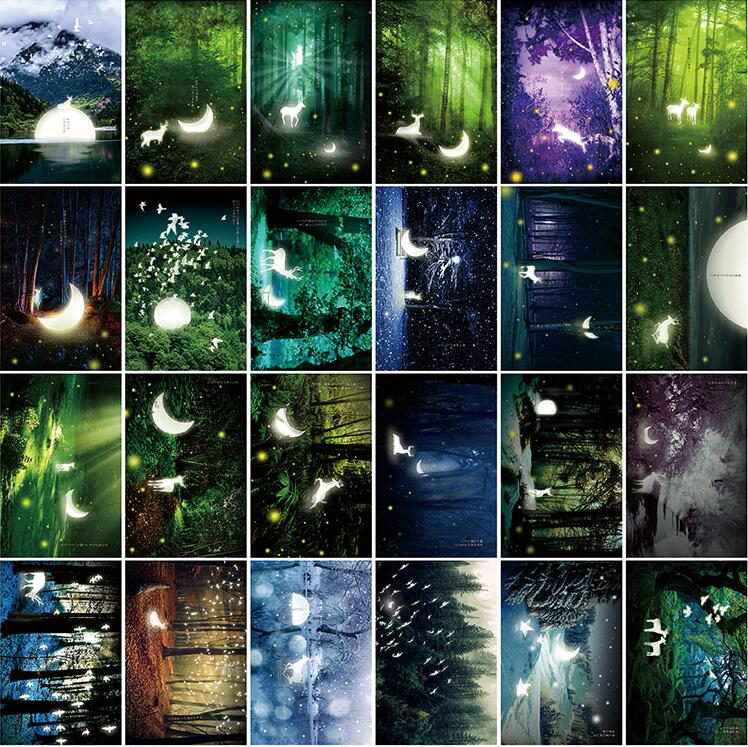 30pcs/lot  Luminous postcards greeting card christmas card birthday card creative gift cards postcard christmas gift post card postcards chinese famous cities beautiful landscape greeting cards ansichtkaarten ningbo