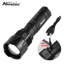 AloneFire X981 USB 26650 Linterna Antorcha XML T6 LED Zoomable zoom Caza Que Acampa Linterna de Luz de Flash