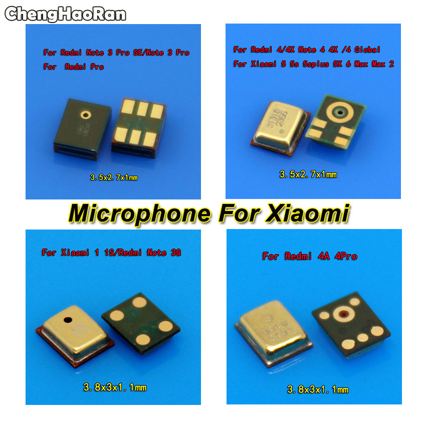 2pcs Microphone Inner MIC Repair Parts For Xiaomi Max2 Max 1 1S 3 5 5S 5X 6 For Redmi 2A 4A 4Pro Note 3 Pro SE/Note 4 4X Global
