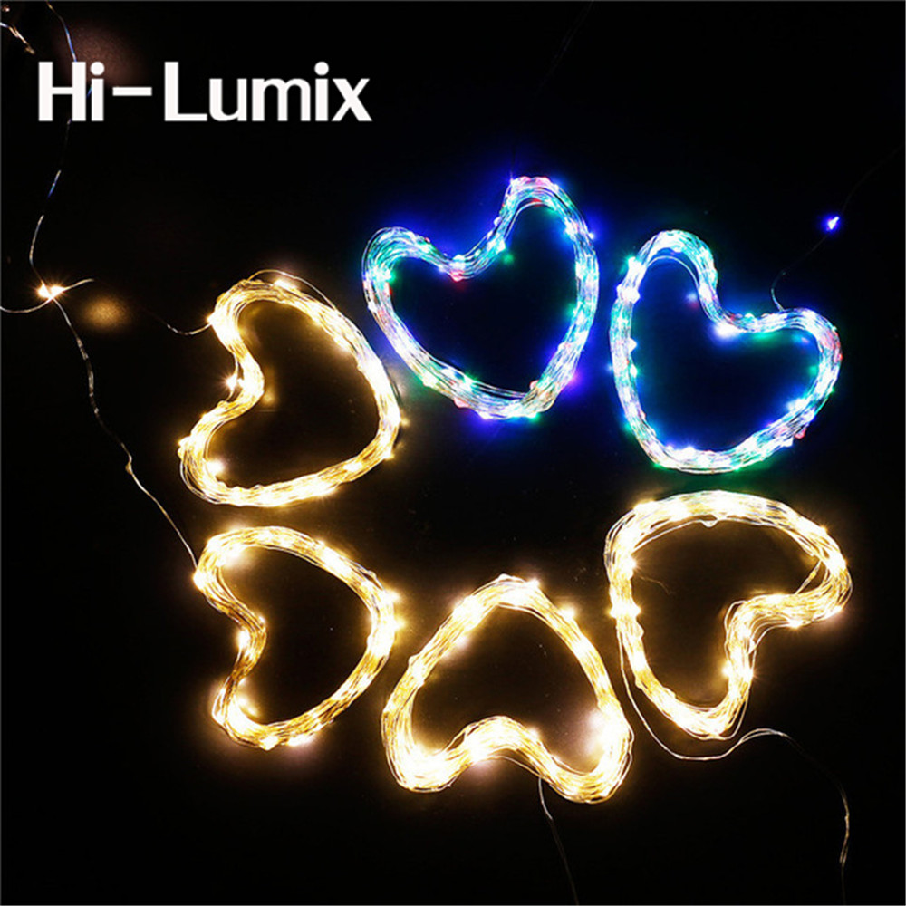 Hi-Lumix 5M 10M Copper led string light AA battery operated and Remote WATERPROOF outdoor decoration fairy lighting Christmas