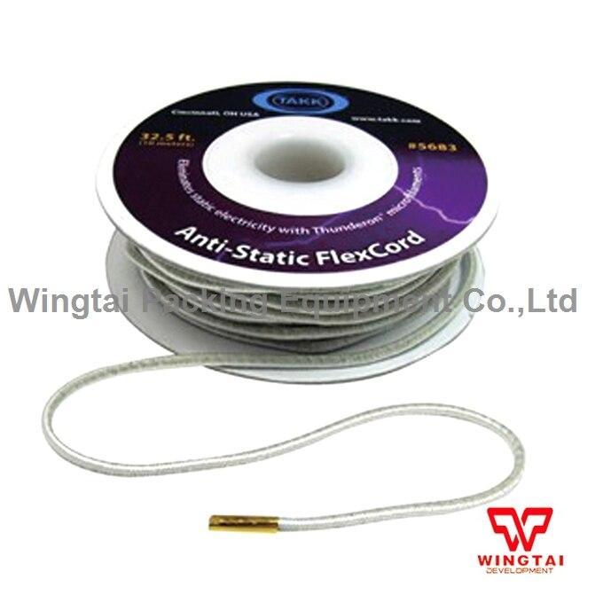 10m/roll 5683# TAKK Anti-Static FlexCord Stretchable Rope Static Eliminators For Paper Folders and Winding  original usa takk anti static tinsel