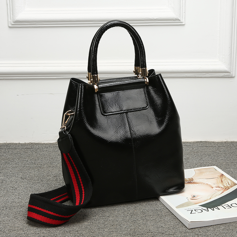 2 Pcs/Set Women Handbag Leather Tote Bags For Female Big Capacity Shoulder Crossbody Bag Women Retro Composite Bag