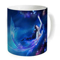 2017 New Designer Mug Coffee Blue Fish Nice Unique Printed Tea Cup Mother Gift