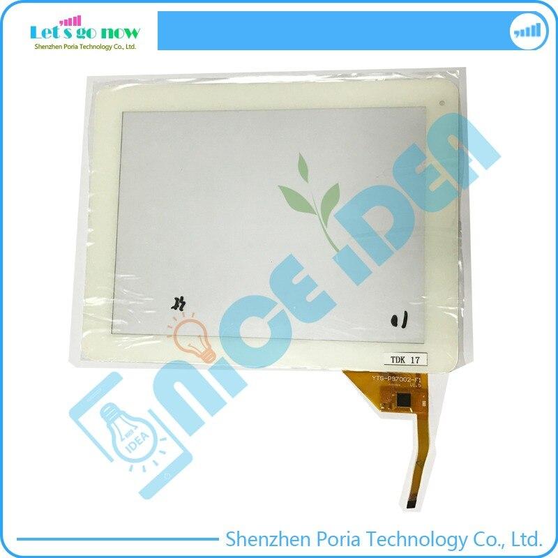 100% Nouveau 10 ''Pouces Tactile Numérique D'écran Pour YTG-P9Z002-f1 P25700B V1.5 Blanc Avant Tablet Tactile Panneau de Verre de Remplacement