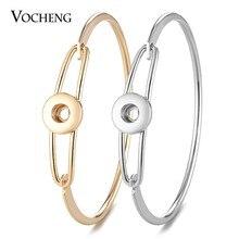 10 sztuk/partia Vocheng Ginger Snap biżuteria miedzi bransoletka dla kobiet Fit Petite 12mm przycisk 2 kolory NN-556 * 10