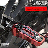 Spirit Beast Universal Motorcycle Anti skid Pedals For Benelli Series Modified Motorbike Foot Rest Decorative Accessories