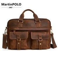 2019 пояса из натуральной кожи сумка для мужчин's портфели кожаная сумка для ноутбука Бизнес Компьютерная сумка через плечо Crossbody мужской
