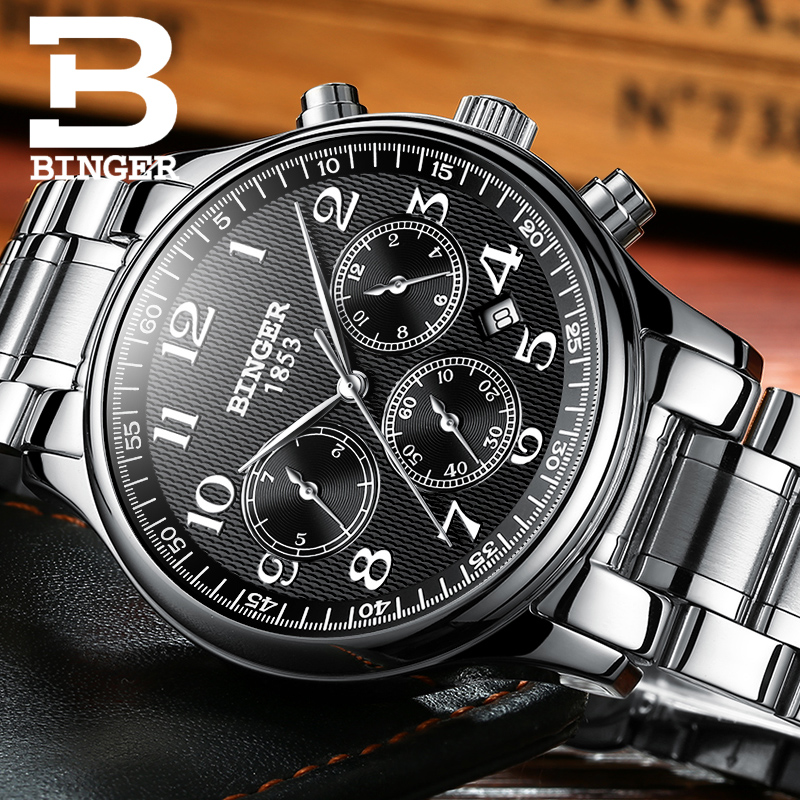 BINGER 2017 New Luxury Casual Clock Men Automatic Watch Business Watch Mechanical Relogio Male Montre Watch Mens Relojes manufacturer of odm oem cnc machining fabrication cnc prototyping aluminum metal mateiral 14