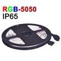 IP65 Waterproof LED RGB Strip Light SMD5050 RGB LED Fiexble Light 5m/lot 60eds/m DC 12V Fitas De Led Decorated For Home