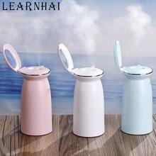 LEARNHAI 300ML mini usb shell ultrasonic air humidifier portable home car steam with makeup mirror