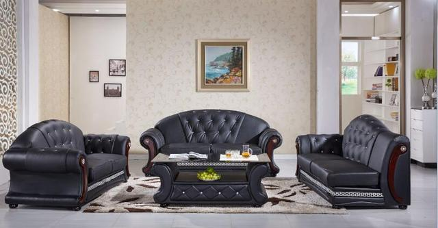 Modern Chesterfield Sofa For Sofa Set Living Room Furniture Leather Sofa