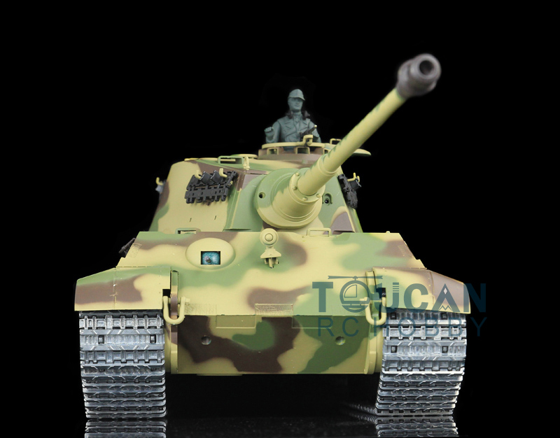 2.4Ghz HengLong 1/16 Scale German King Tiger RTR RC Tank Metal Track Wheels 3888A все цены