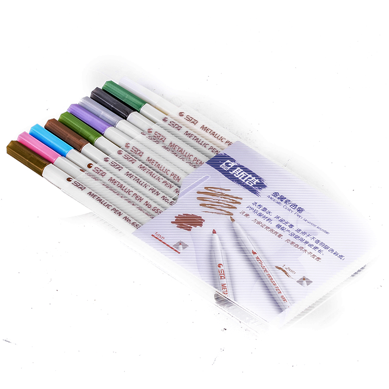 10pcs Water Color Metallic Sketch Stationery Art Sets Colorful Marker Brush Tip Pen Pencil Set Mayitr Painting Supplies