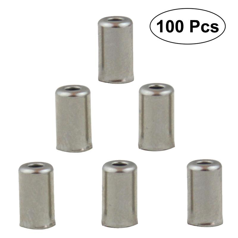 100pcs Bicycle Shifter Brake Gear Inner Cable Tips Ends Caps Crimp Ferrule SE