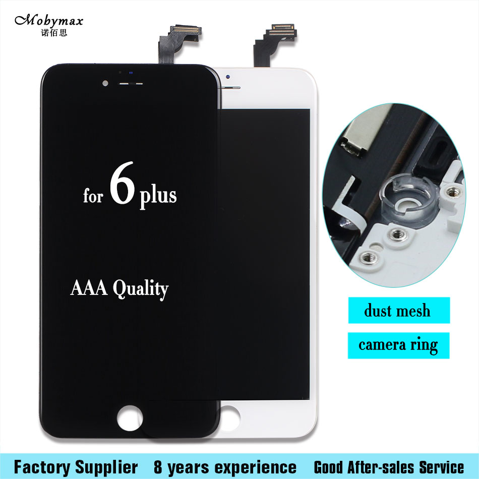 Mobymax LCD Display For Iphone 6 plus LCD Touch Screen Front Glass Digitizer Glass Assembly